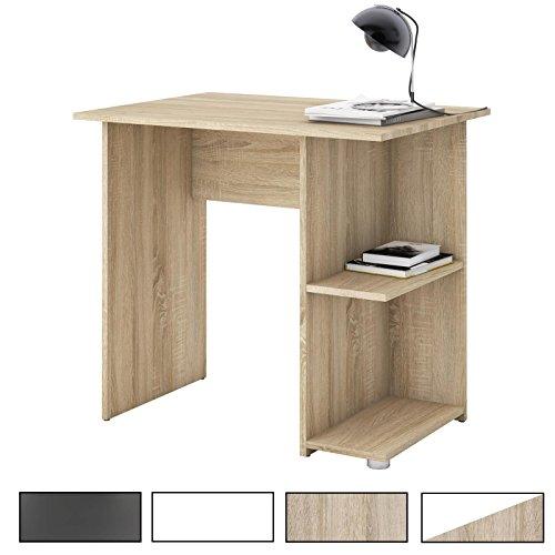 schlichter schreibtisch in grau. Black Bedroom Furniture Sets. Home Design Ideas