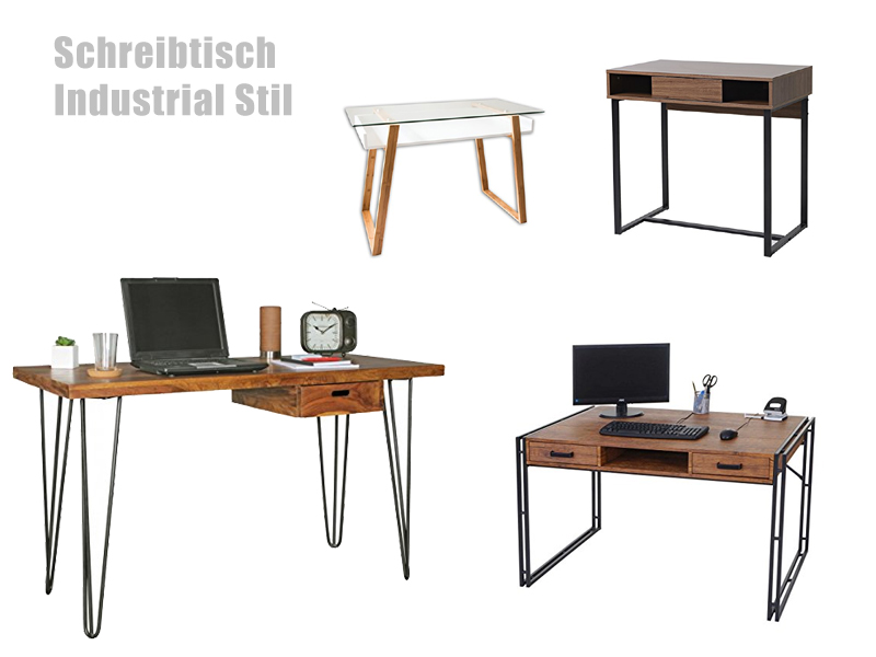 schreibtisch industrial stil. Black Bedroom Furniture Sets. Home Design Ideas