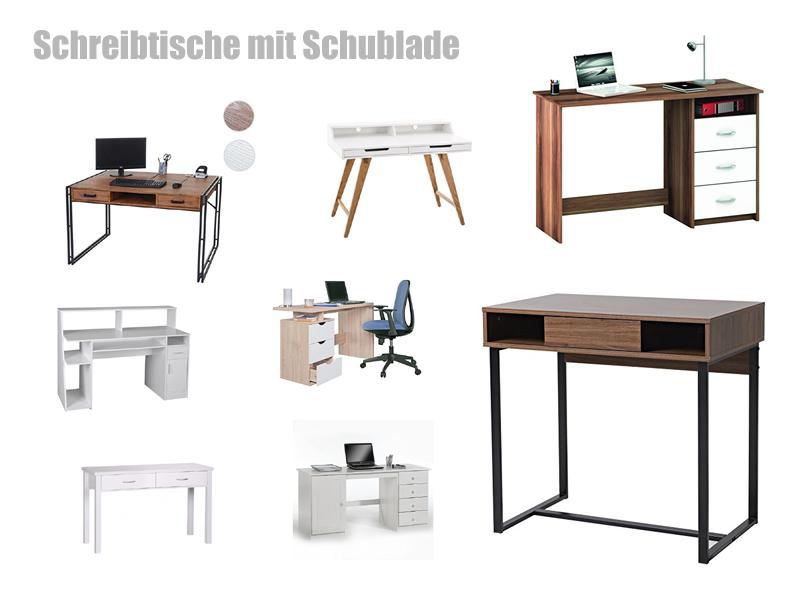schreibtisch mit schubladen. Black Bedroom Furniture Sets. Home Design Ideas