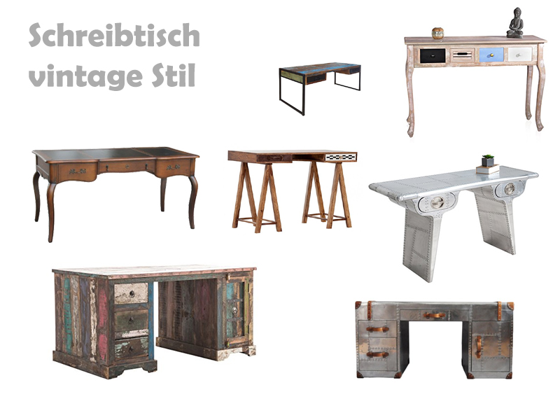 schreibtisch vintage look. Black Bedroom Furniture Sets. Home Design Ideas