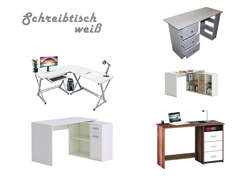 schreibtische weiss wohndesign und inneneinrichtung. Black Bedroom Furniture Sets. Home Design Ideas